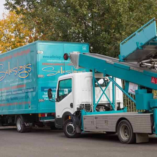 Selleslags déménagement lift camions